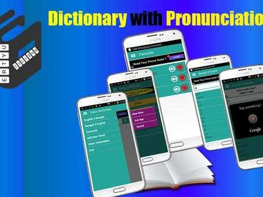 Dictionary with Pronunciation Android App