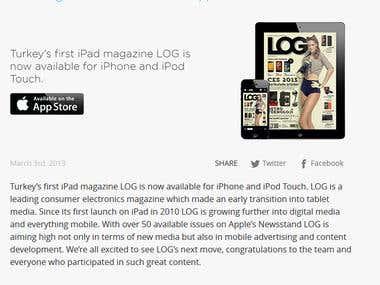 Magazine iPhone App
