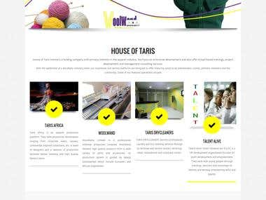 Single page wordpress website