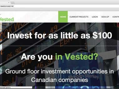 Vested Crowdfunding Website