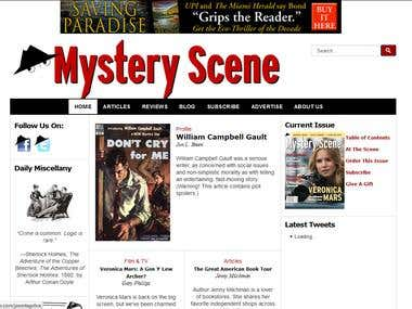 Mystery Scene Mag Website Upgrade