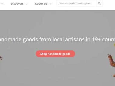 Marketplace for hand made goods
