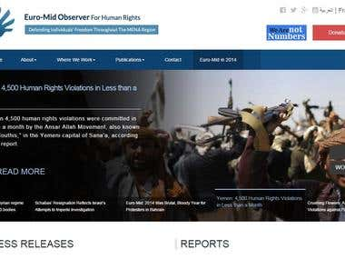 website an international human rights organization