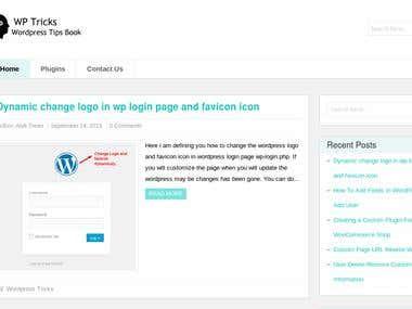 Wordpress tips and trick blog