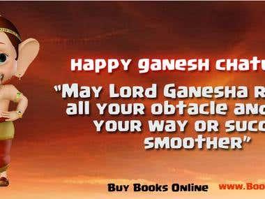 Ganesh festival banner
