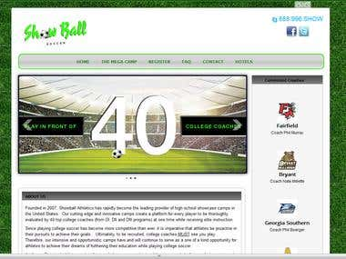 Showball Soccer New Website