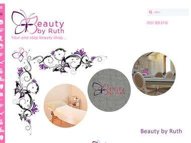 Website Design and Development for Beauty by Ruth