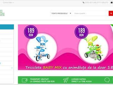 Prestashop online store for kids and babies toys