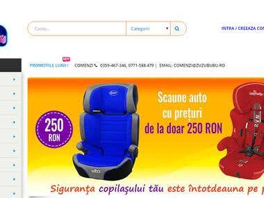 Wordpress online store for babies and kids products