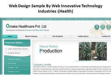 Design Sample ( Health)  By Web Innovative Technology