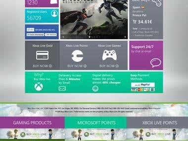 Xbox Live Website Design