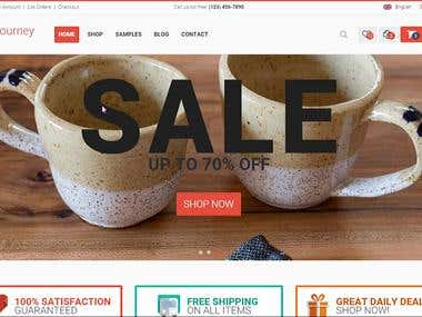 A E-commerce Shopping Cart Project For Selling Tea.