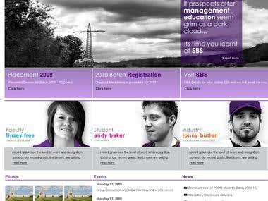 Educational Website Portal