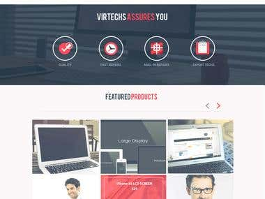 Website mockup for Virtechs