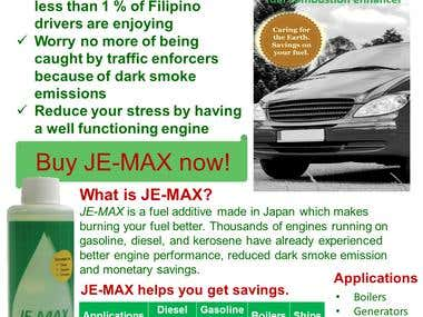 JE-MAX promotional flyer and posters