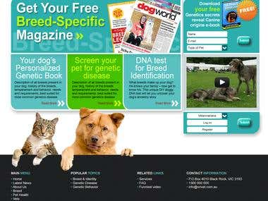 Online Genetic Pet Care Portal