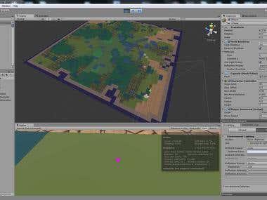 3D Map generator (Biomes, Flora, Lakes) UNITY3D.
