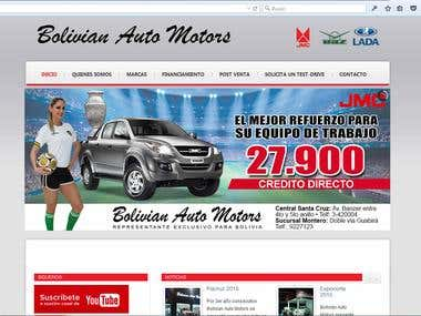 BolivianAutomotors Website