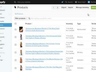 Shopify webstore - imashopaholic