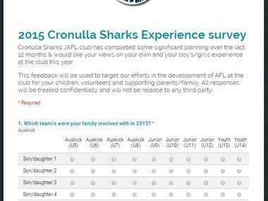 Design Google based feedback survey forms