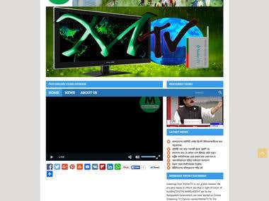 Online TV Website Design and Development