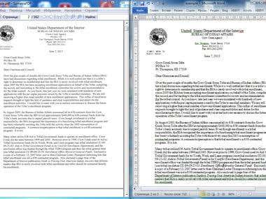 Conversion. PDF  to Word