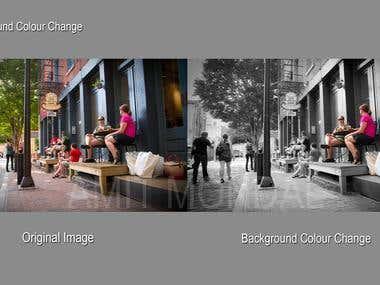 Background colour change.