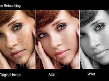 Face Retouching and Acne Remove