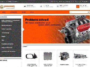 Opencart Ecommerce Motor Vehicle Parts Website