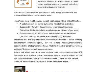 Brand Ambasador Sales/Introduction letter