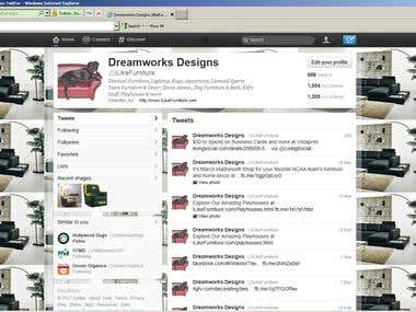 ILikeFurniture Twitter Account - 1205 Followers and Growing