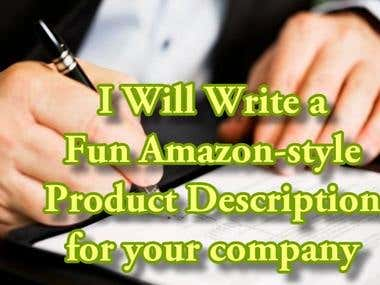 write a amazon html style product description