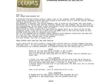 Chasing Dreams Movie Script