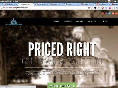 Church Website in Joomla