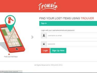Trouver Tracking Web App