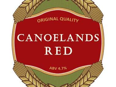 Canoelands Red bottle logo