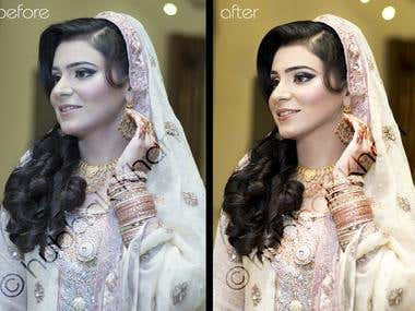 Professional Wedding Shoot Retouching