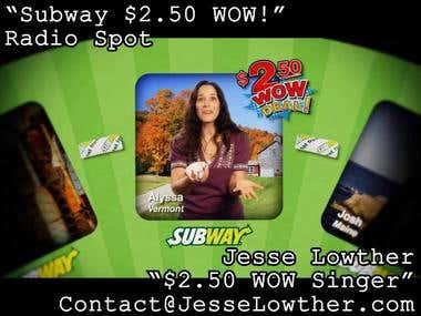 Subway $250 WOW Radio Spot (Singer)