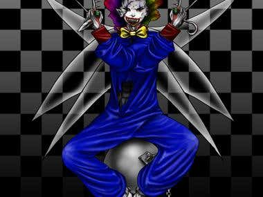 Evil Clown Digital Painting