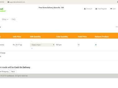 Online Vegetables Shopping Website in Asp.Net MVC 3 SQL