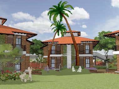 Conceptual 3D of Resort
