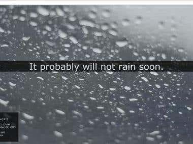Raincasting Web App