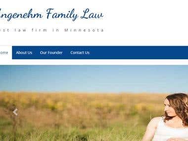 WordPress website for Law Firm