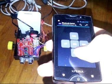 4 wheel robot - Arduino, Servo Motors, Bluetooth, Android