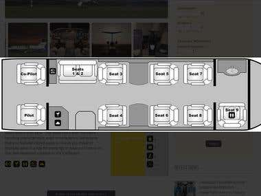 Aircraft Interior Layout Design in Photoshop