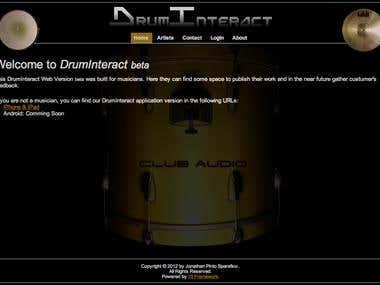 DrumInteract.Co.Uk Website