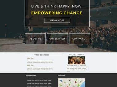 Site design for a motivational speaking company