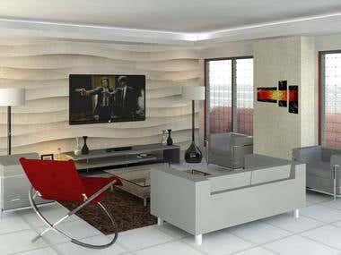 Living room - Interior Design.