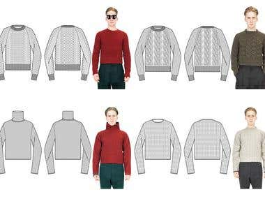 Illustrator drawings for Cerruti
