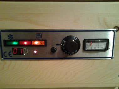 Custom designed timer for drying unit